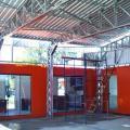 Cobertura metalica para area de lazer