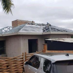 Estrutura metalica cobertura residencial