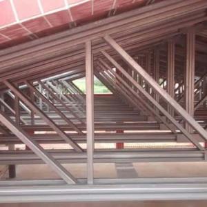 Estrutura metálica com fechamento em alvenaria