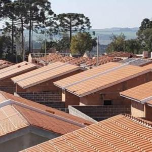 Estrutura metálica para telhado