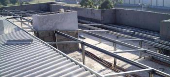 Cobertura metalica para laje