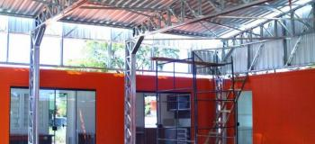 Estrutura metalica para telha trapezoidal
