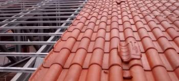 Estrutura metalica para telhado com telha de barro