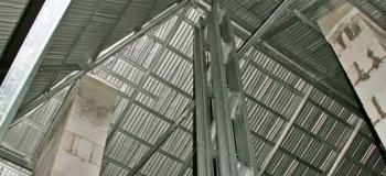 Estrutura metalica trapezoidal